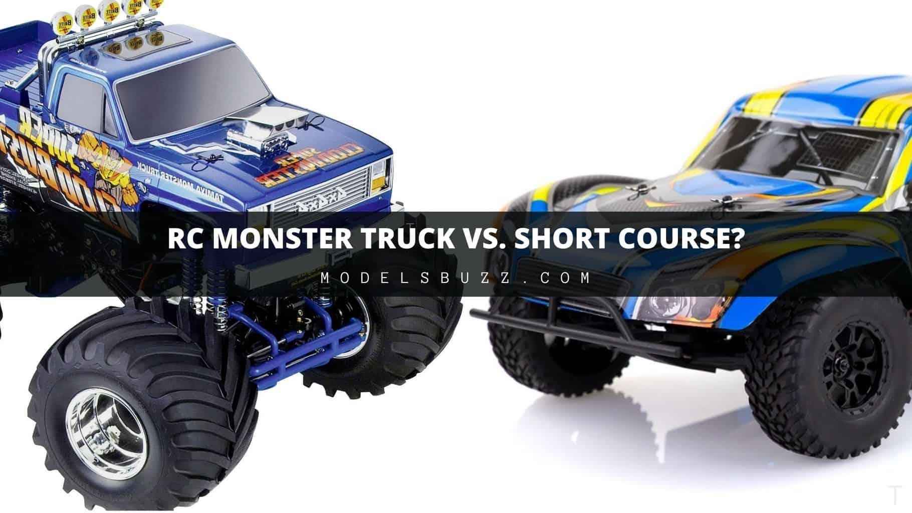RC Monster Truck vs. Short Course car